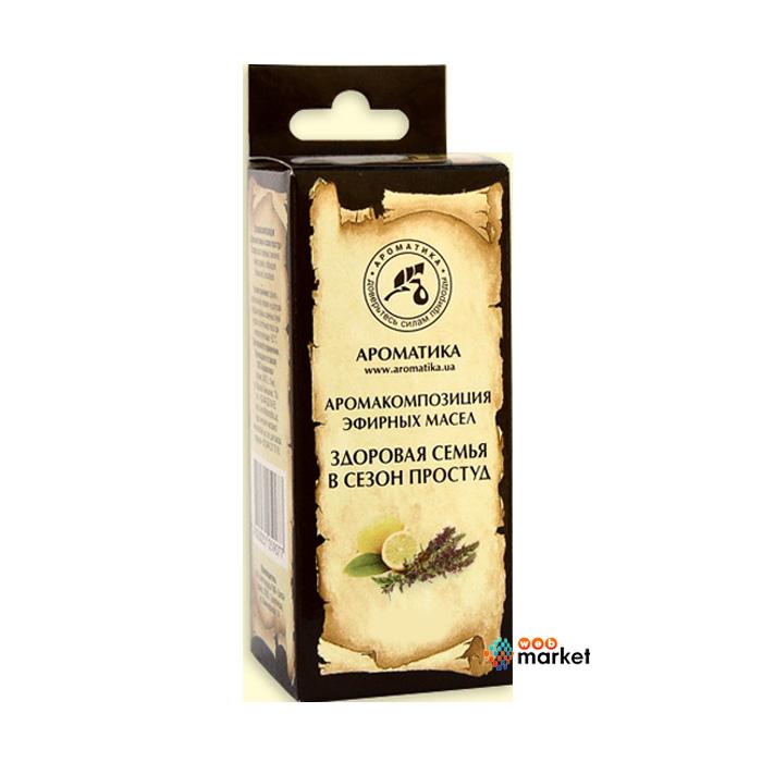 Купить Эфирные масла Ароматика, Эфирное масло Ароматика Аромакомпозиция Здоровая Семья 10 мл