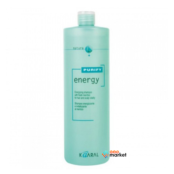 Купить Кондиционеры для волос Kaaral, Кондиционер-крем энергетический Kaaral Purify Energy с экстрактом свежей мяты и ментола 1000 мл