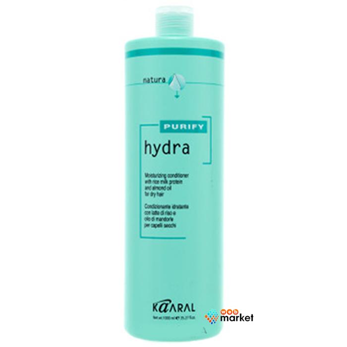 Купить Кондиционеры для волос Kaaral, Крем-кондиционер Kaaral Hydra с протеинами рисового молочка и миндальным маслом 1000 мл