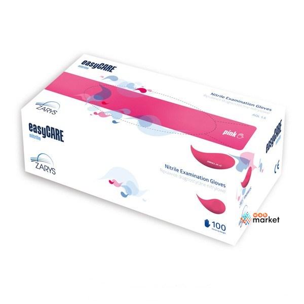 Купить Перчатки медицинские Dermagrip, Перчатки нитриловые Dermagrip EasyCare розовые L 100 шт