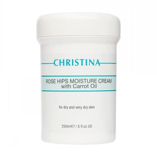 Купить Кремы для лица Christina, Увлажняющий крем Christina Rose Hips Moisture Cream With Carrot Oil 250 мл