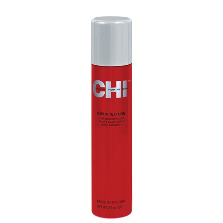 Купить Стайлинг волос CHI, Завершающий лак для волос CHI Infra Texture Dual Action Hair Spray двойного действия 50 г