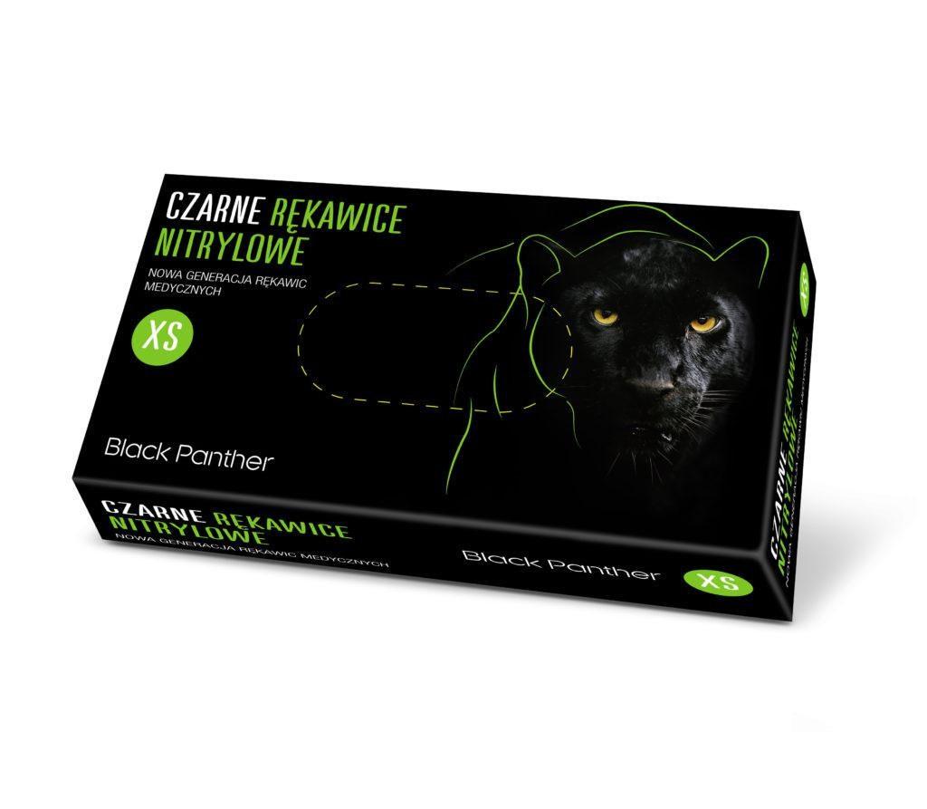 Купить Одноразовые перчатки Doman, Перчатки нитриловые Doman XS Black Panther 100 шт