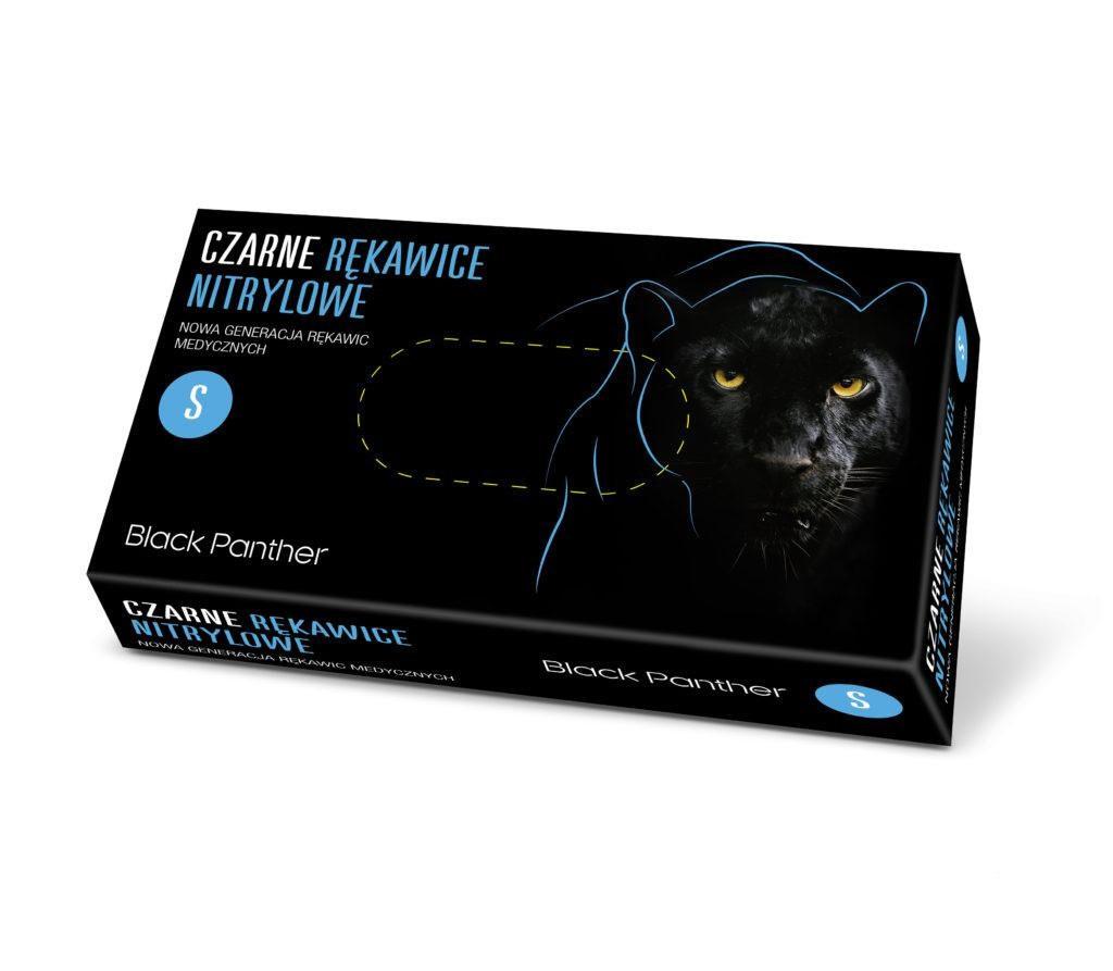 Купить Одноразовые перчатки Doman, Перчатки нитриловые Doman S Black Panther 100 шт