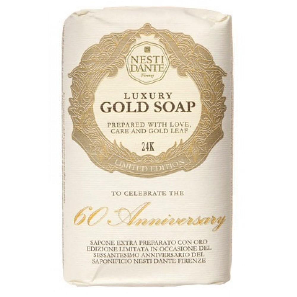 Купить Мыло Nesti Dante, Юбилейное мыло Nesti Dante 60th Anniversary Gold Leaf Золотое 250 г