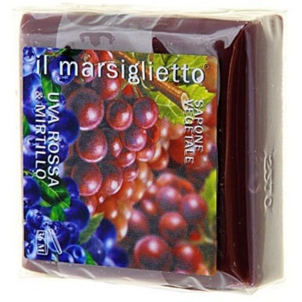 Купить Мыло Nesti Dante, Марсельское мыло Nesti Dante Красный виноград и черника 100 г