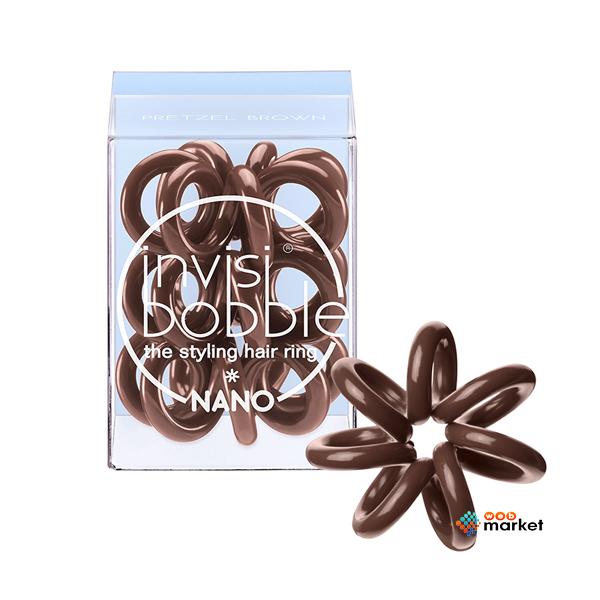 Парикмахерские инструменты Invisibobble, Резинка-браслет для волос Invisibobble Nano Pretzel Brown  - купить со скидкой