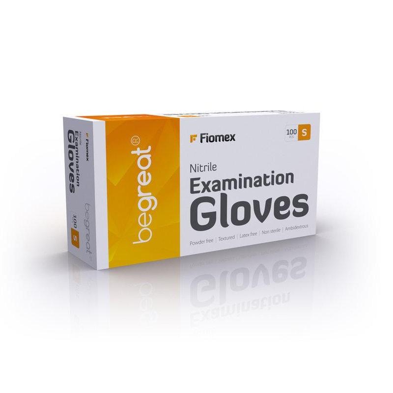 Купить Одноразовые перчатки Fiomex, Перчатки нитриловые Fiomex S Premium неопудренные 100 шт