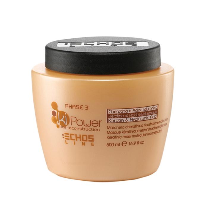 echosline Кератиновая маска Echosline Ki-Power для молекулярного восстановления волос 500 мл 257776