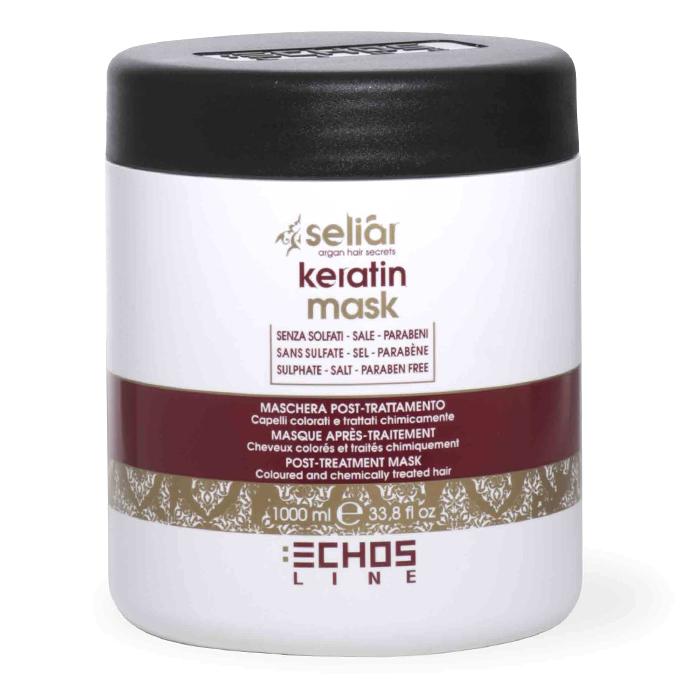 echosline Маска для волос Echosline Seliar Keratin с маслом аргании и кератином 1000 мл 257825