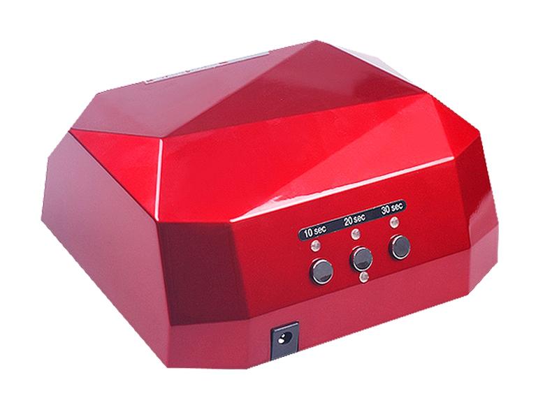 LED + CCFL лампа для ногтей Simei Diamond темно-красная 36 Вт