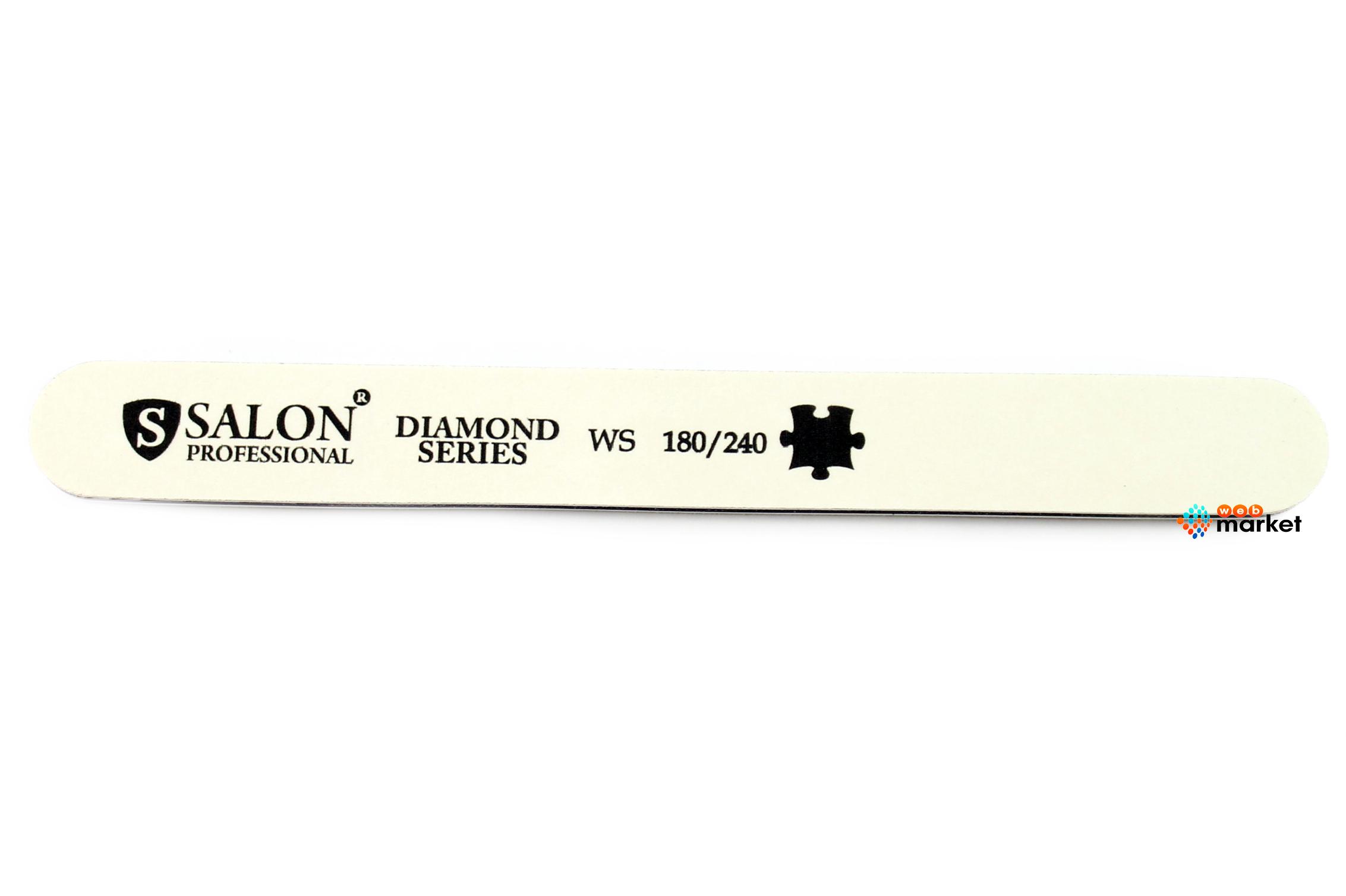 Купить Пилочки Salon, Пилочка минеральная Salon узкая белая 180/240