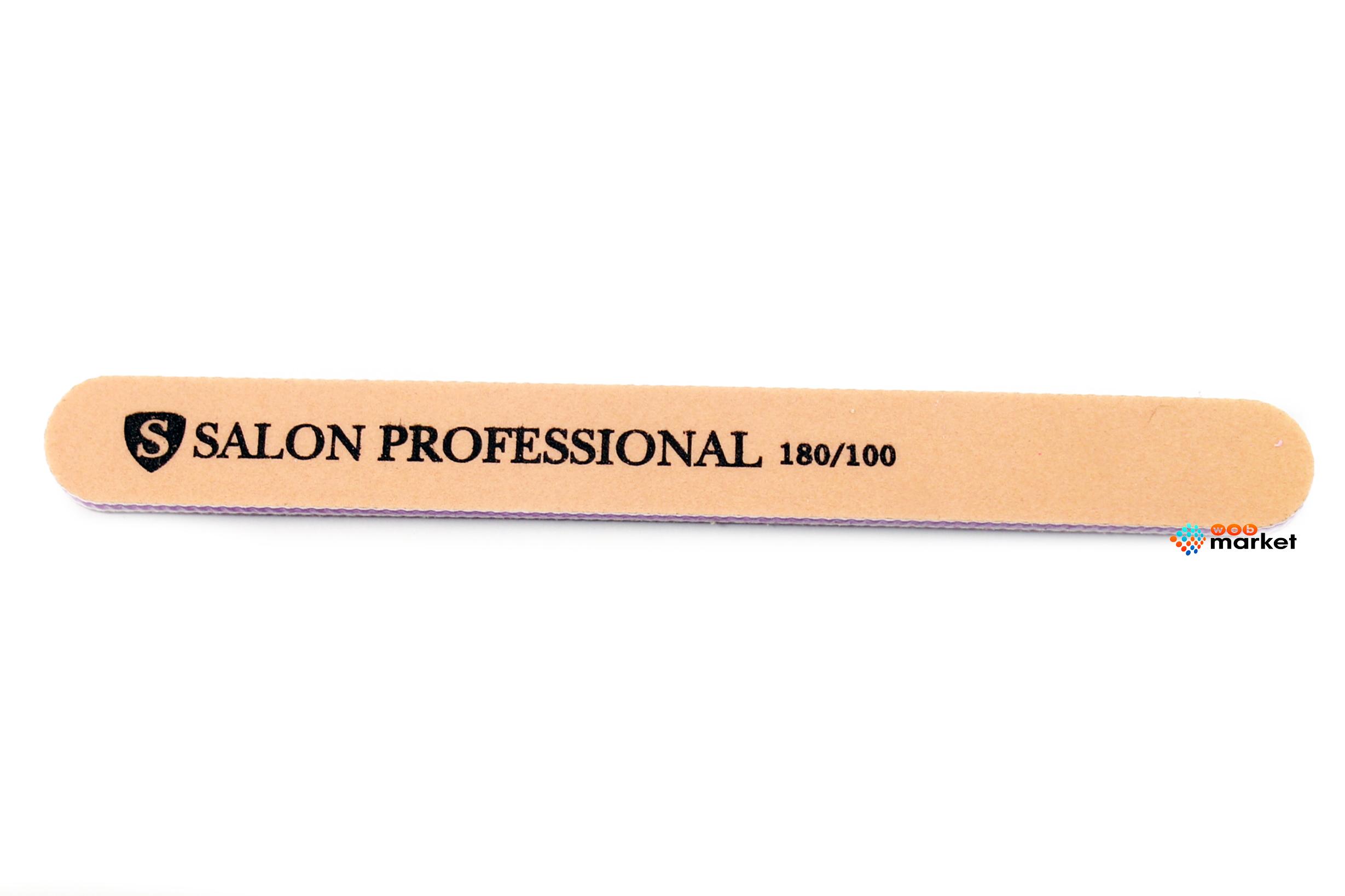 Купить Пилочки Salon, Пилочка минеральная Salon узкая бежевая 180/100