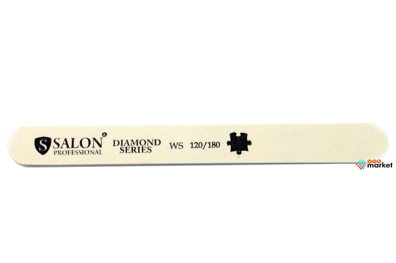 Купить Пилочки Salon, Пилочка минеральная Salon узкая белая 120/180