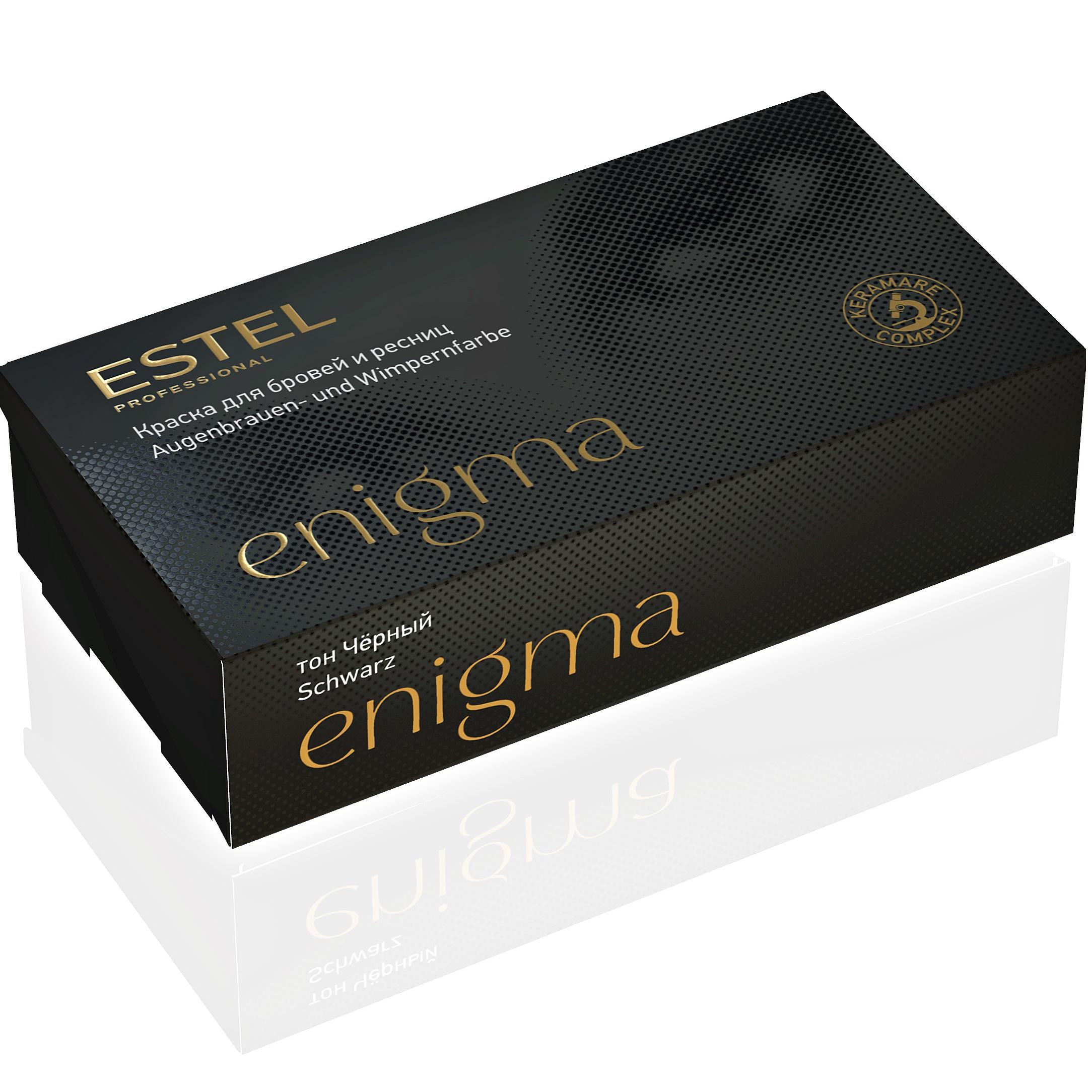 Краски для бровей и ресниц Estel, Краска для бровей и ресниц Estel Enigma EN/1 тон черный  - купить со скидкой