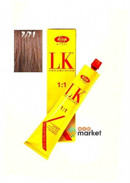 Купить Краска для волос Lisap Lisap, Крем-краска Lisap LK Creamcolor Anti-Age Nutmeg 7/71 мускатный орех 100 мл
