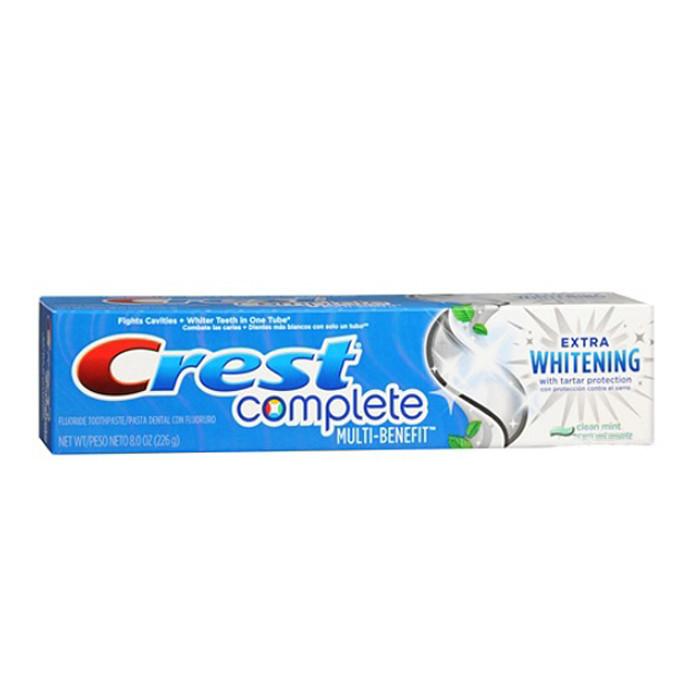 Отбеливающая зубная паста Crest Complete Multi-Benefit Extra Whitening Tartar Protection Clean Mint 175 г