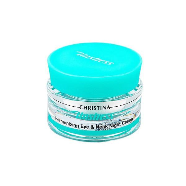 Ночной крем для кожи вокруг глаз и шеи Christina Unstress Harmonizing Night Cream for eye and neck Гармонизирующий 30 мл